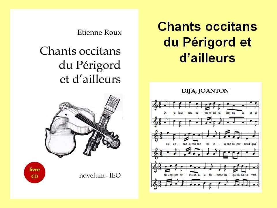 Vient de paraître : Chants occitans du Périgord et d'ailleurs