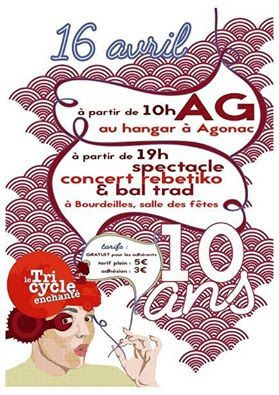 le Tricycle enchanté organise un bal trad le 16 avril à Bourdeilles