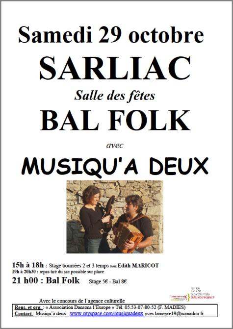 Petit rappel ... beau rendez vous Trad à Sarliac Samedi 29 octobre!!!!!!!!!!!!!!!