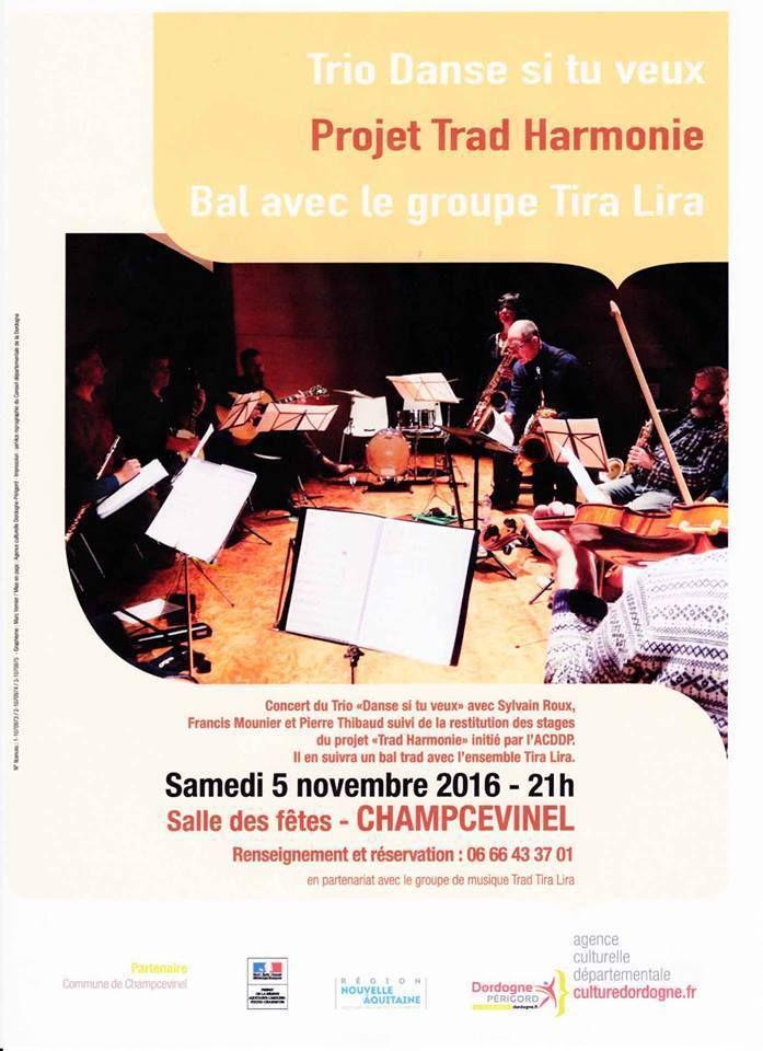 Champcevinel, le 5  novembre : concert et bal trad