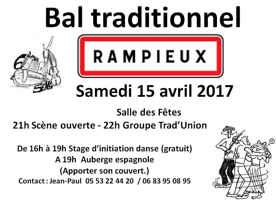BAL TRAD A RAMPIEUX LE 15 AVRIL