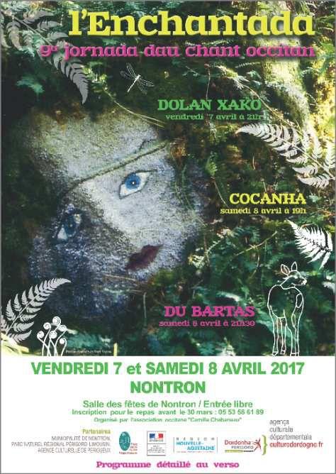 L'ENCHANTADA 9ème journée du chant occitan !!! L'événement à ne pas rater sur NONTRON les 7 et 8 avril 2017