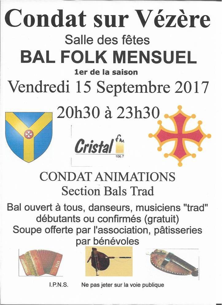 Condat Sur Vézère Bal Trad Mensuel 15 Septembre 2017