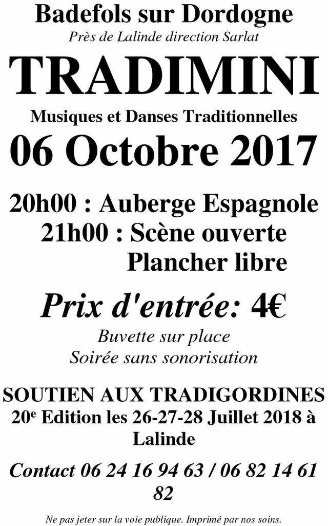 Tradimini à Badefols sur Dordogne le 6 octobre 2017