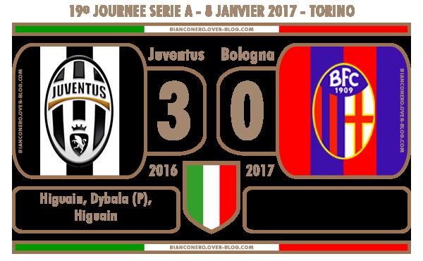 La Juventus commence bien l'année 2017 face au Bologna