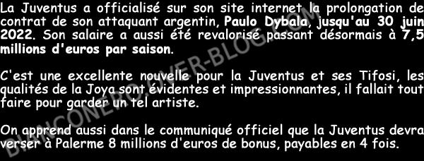 Officiel, Paulo Dybala prolonge avec la Juventus