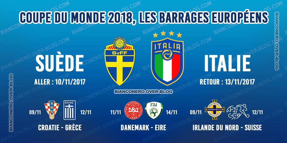 Coupe du monde 2018 les barrages et les dates le blog de bianconero - Date coupe du monde 2018 ...