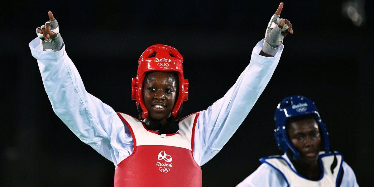Haby Niaré, médaillée d'Argent dans la catégorie féminine -67kg...