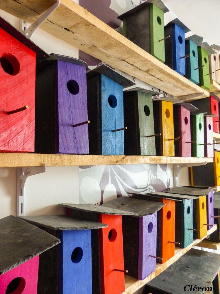 BO nichoirs en bois flotté & Bo nichoirs colorés. Plein de nouveautés !!!!