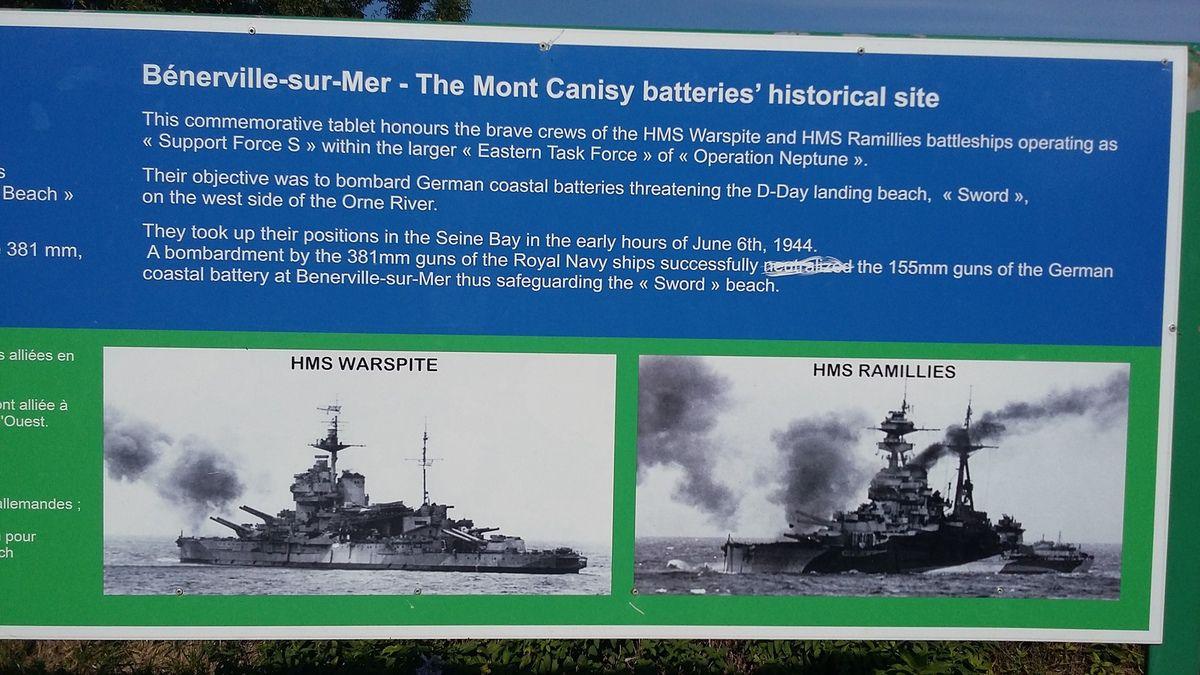 Plomo visite les batteries du mont Canisy à Bénerville dans le Calvados