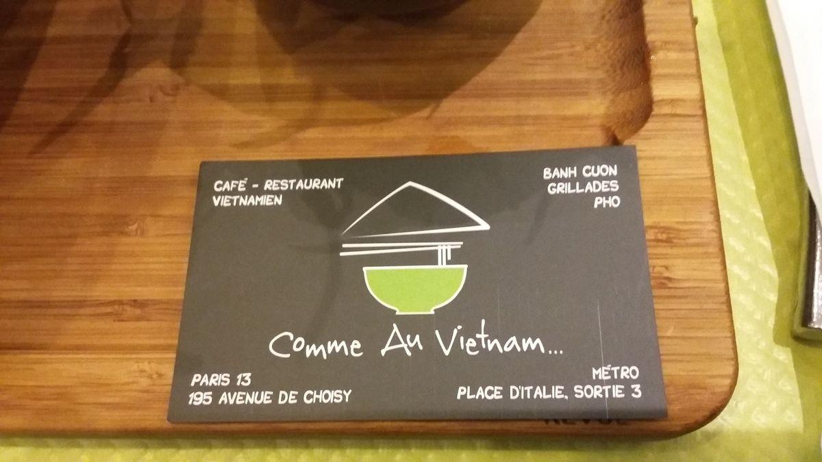 restaurant &quot&#x3B;Comme au Vietnam &quot&#x3B; Paris 13e