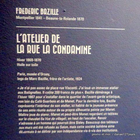 Bazille au musée d'Orsay 1ère partie mercredi 15 février 2017
