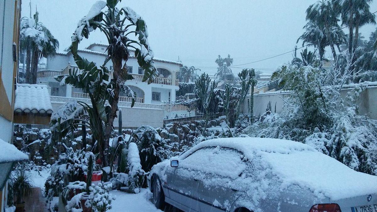 D' un seul coup, la neige...