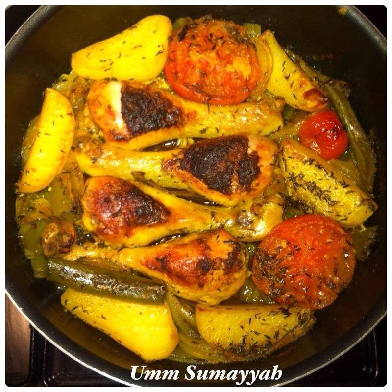 Pilons de poulet au four &amp&#x3B; Légumes du soleil
