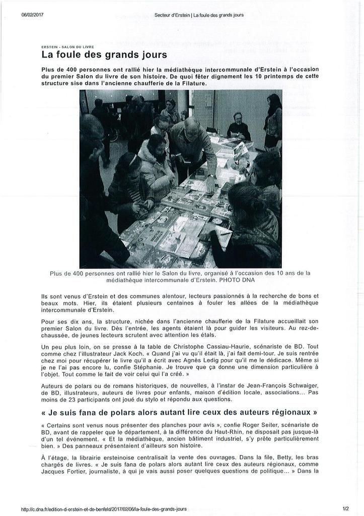 Des photos du 1er salon du livre d'Erstein partenaire de Complètement Livres !
