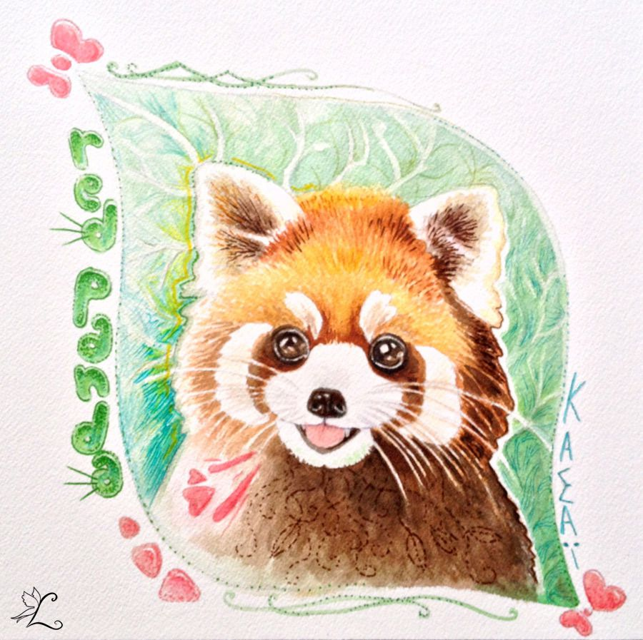 Dessin kawaii panda roux dessin de manga - Dessins de panda ...