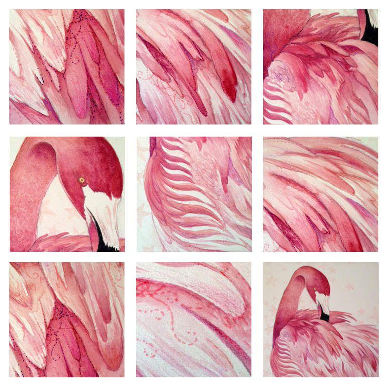 #flamant #flamant-rose #rose #flamingo #pink #illustration #dessin #aquarelle 1watercolor #animal #oiseau