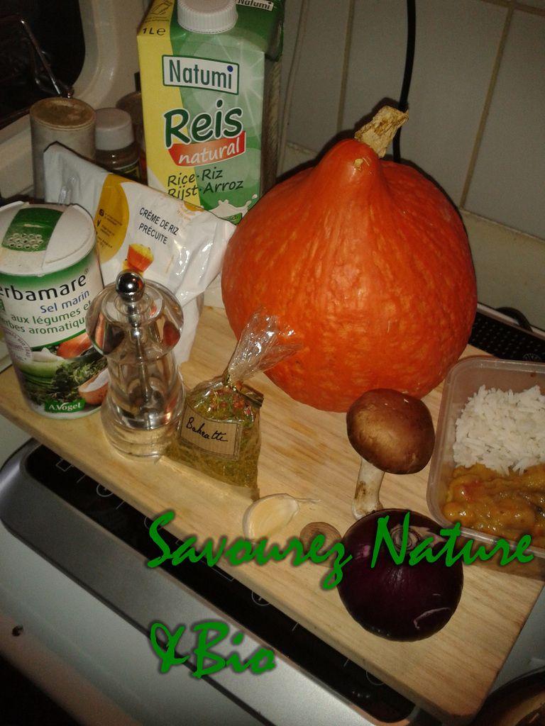 Ingrédients pour la blanquette de potimarron