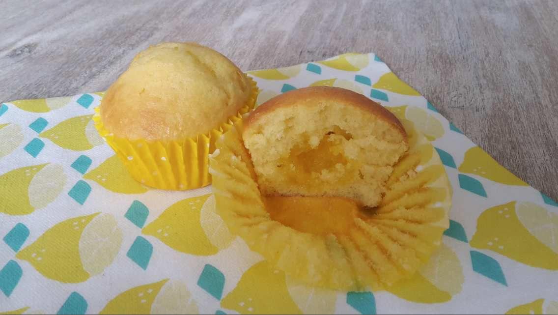 Muffins au yaourt coeur fondant citron