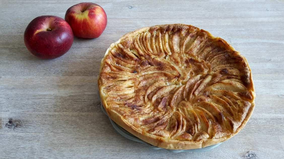 Tarte amandine pommes/cannelle