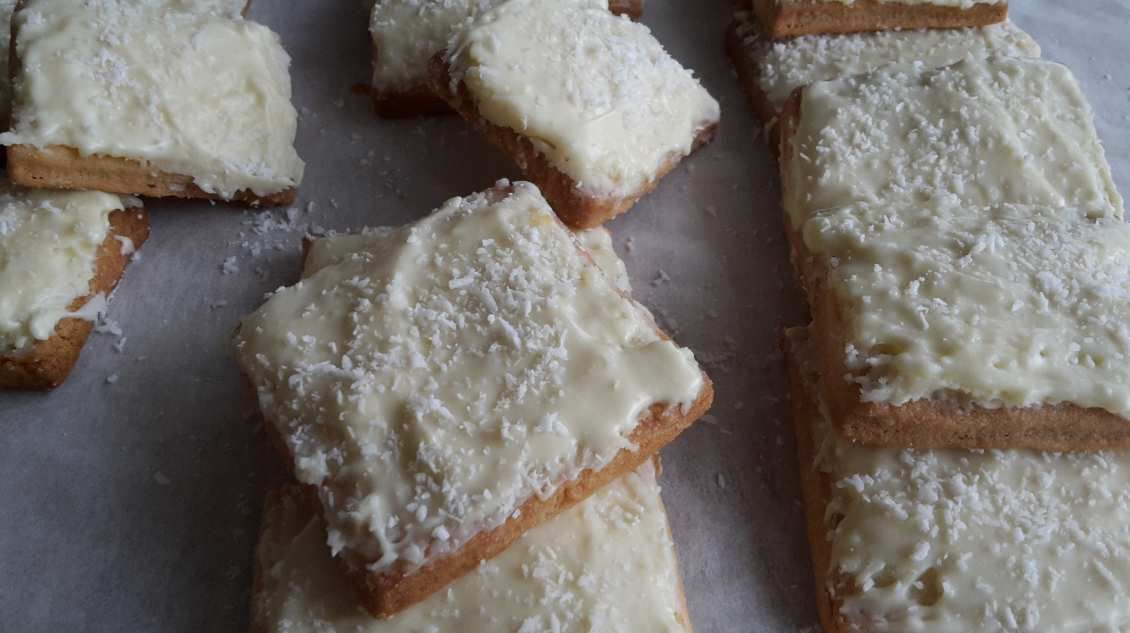 Biscuits noix de coco - chocolat blanc