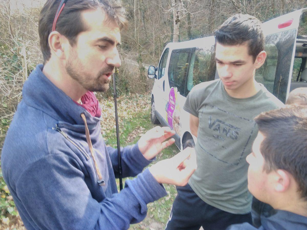 Ouverture de la truite pour les élèves de 4ème option pêche
