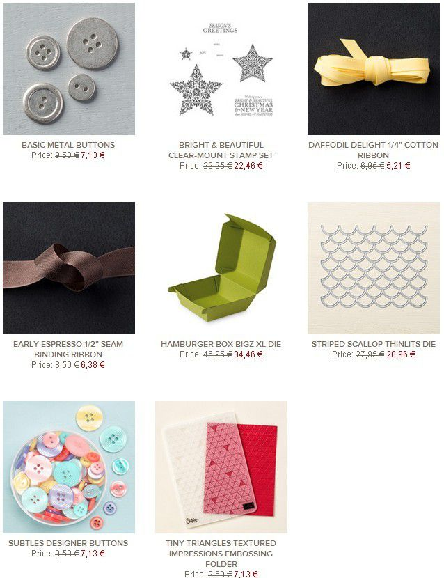 Stampin Up! Deals semaine 21 -22