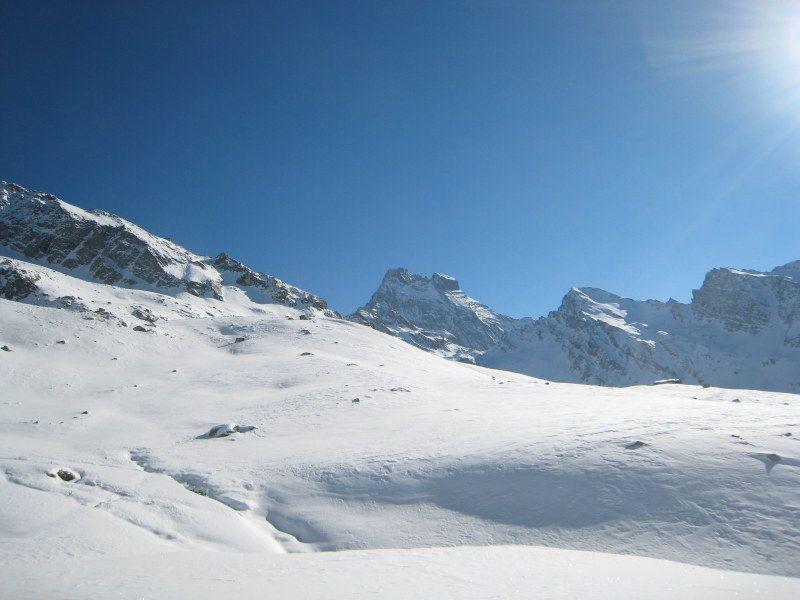 Raid à Ski Tour du mont Viso en hiver