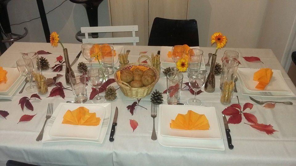 Décoration de ma table d'automne