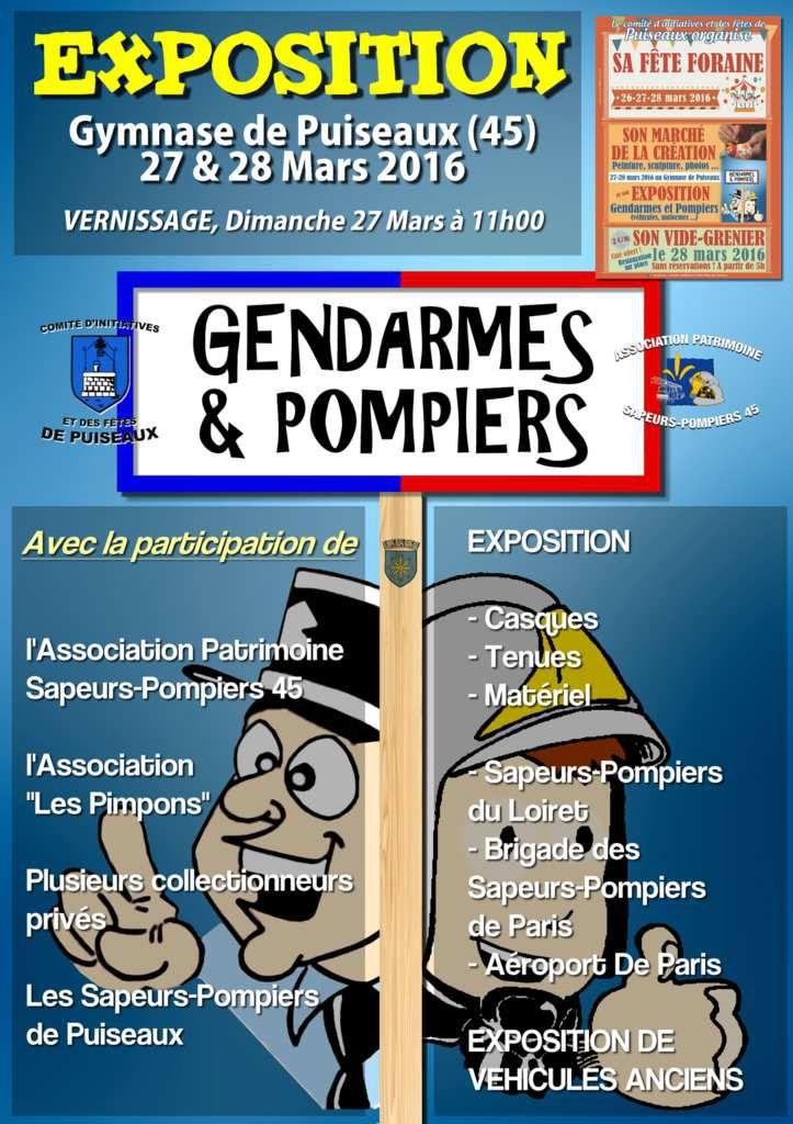 """[INFO] Exposition """"Gendarmes & Pompiers"""" à Puiseaux"""