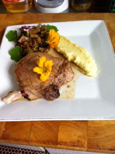 Iberico varken  - Champignons - Aardappelen