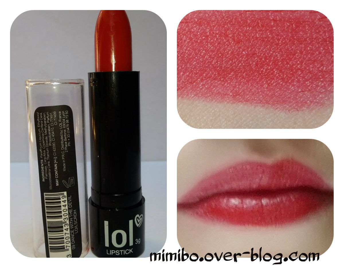 ► Rouge à lèvres LOL de Bysmaquillage : 1€ Couleur : Dance with the devil
