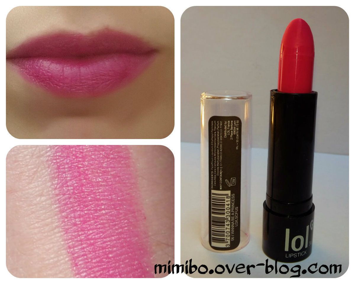 ► Rouge à lèvres LOL de BysMaquillage : 1€ Couleur : 06  I wanna be a princess
