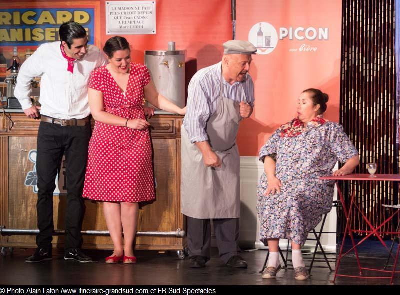 Extrait de la pièce Le Bar de la Marine - Photos Alain Lafon - droits réservés