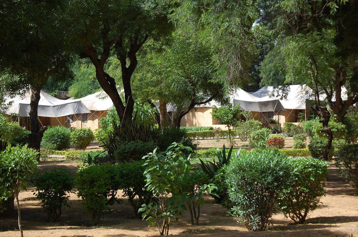 Rajasthan - Jardins de l'Hôtel Samode Bagh