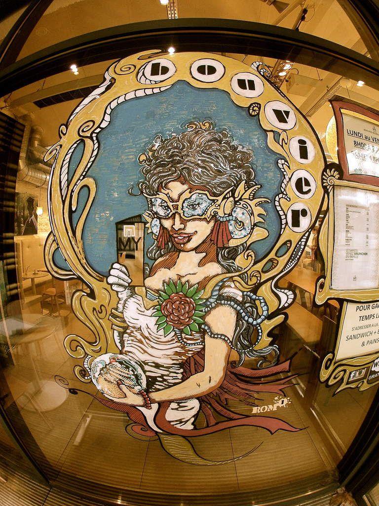Perf sur vitre pour la galerie &quot&#x3B;My by Thierry Bouvier&quot&#x3B;...