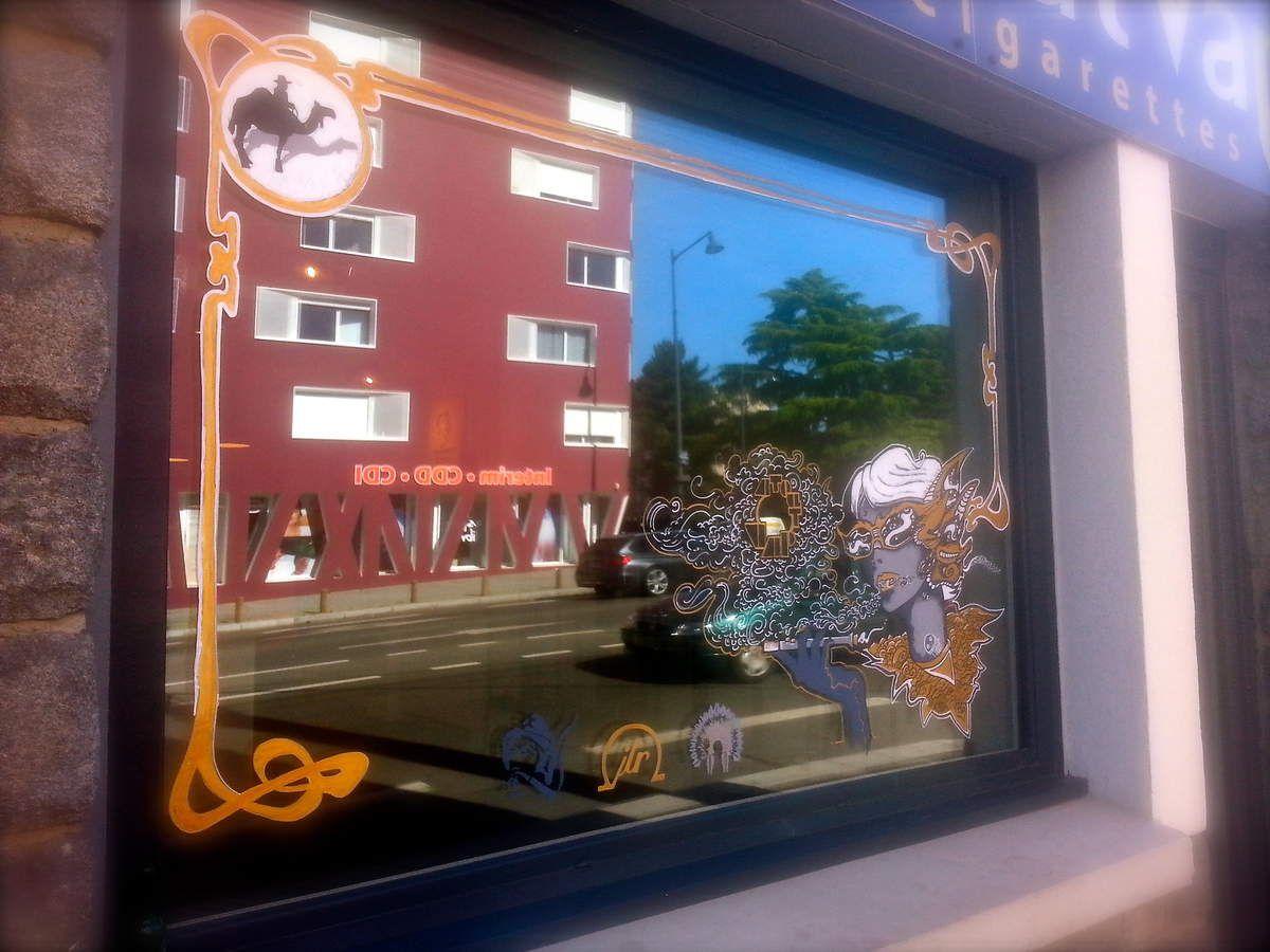 Les p'tys taffs de l'été, Peinture sur vitre pour ATOUT VAP à Rennes