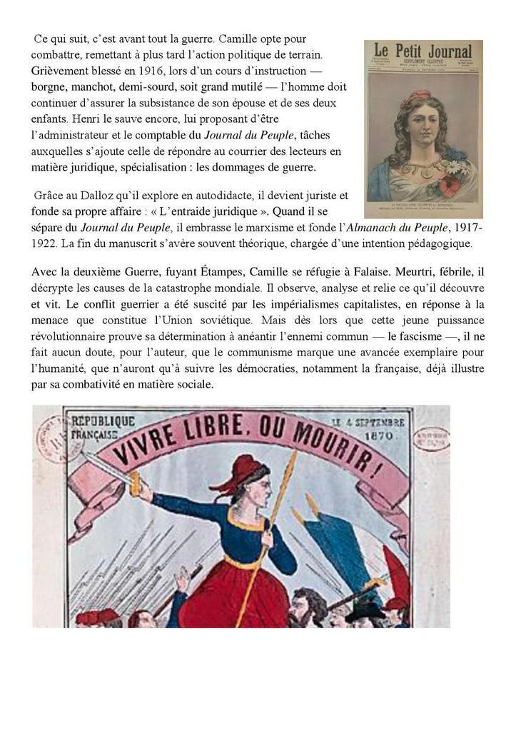 Dossier de presse - Camille Fabre