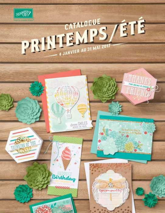 catalogue printemps/été Stampin'Up! 2017