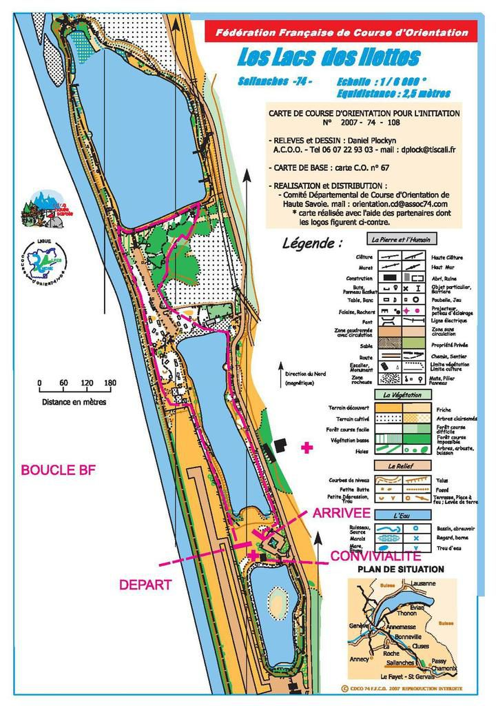 Parcours Cross district Sallanches - Boucle BF, BF et MF