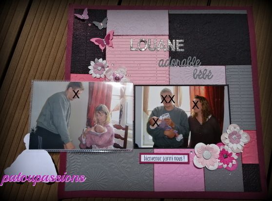 Scrapbooking: Louane, adorable bébé (2017-3).
