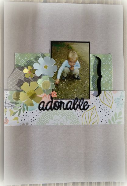Page de scrapbooking: Adorable (2017-2).