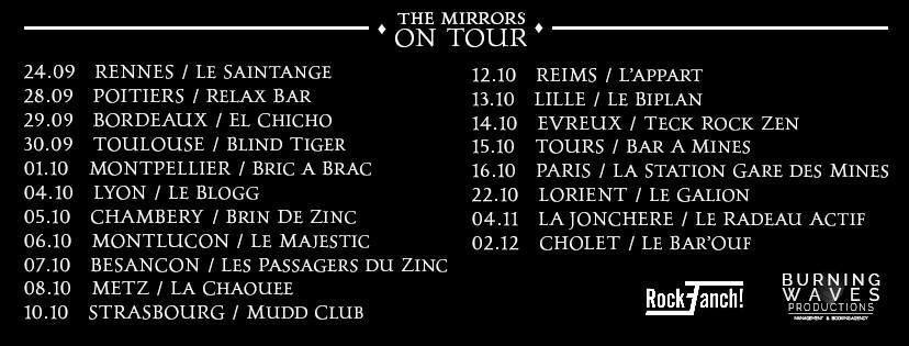 Rockfanch partenaire de la tournée de The Mirrors