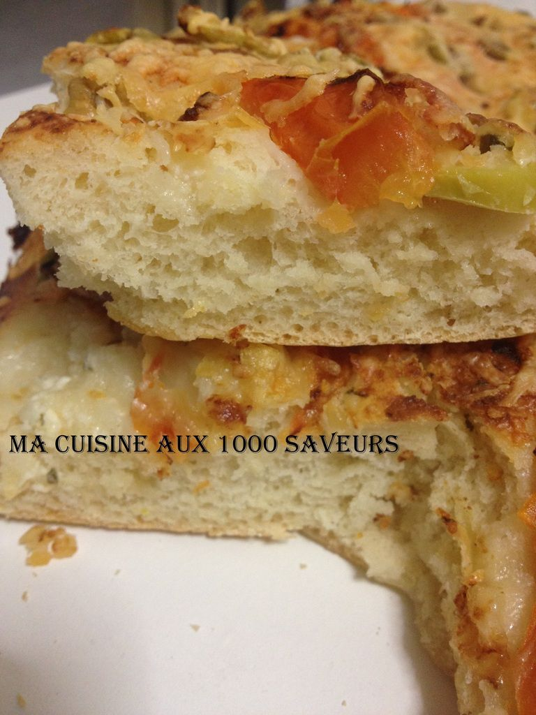 focaccia tomate et fromage