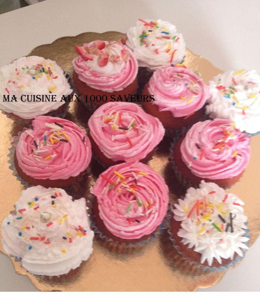 cupcake vanille coloré