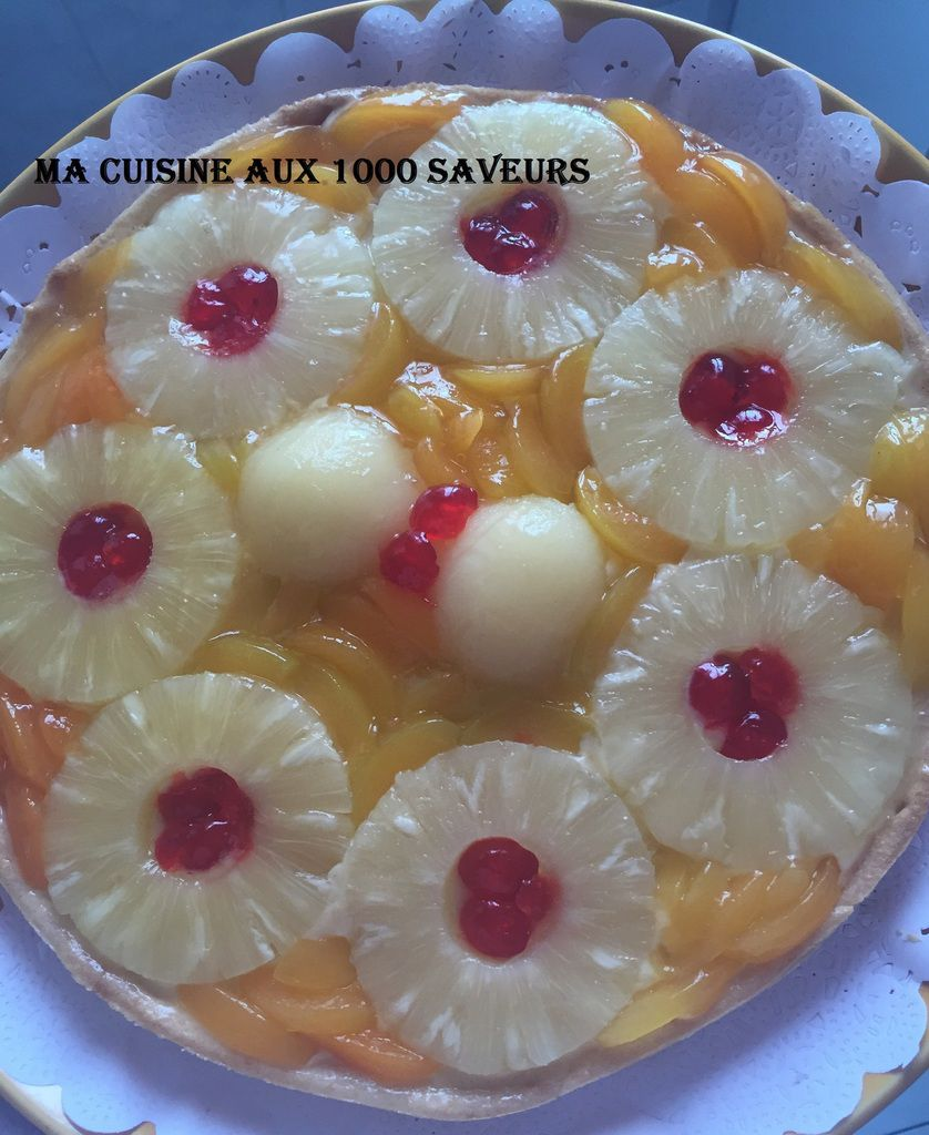 tarte aux fruits avec crème patissière