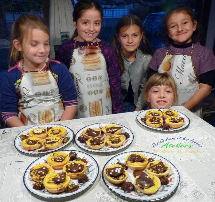 Ateliers cuisine - tartelettes citron chocolat