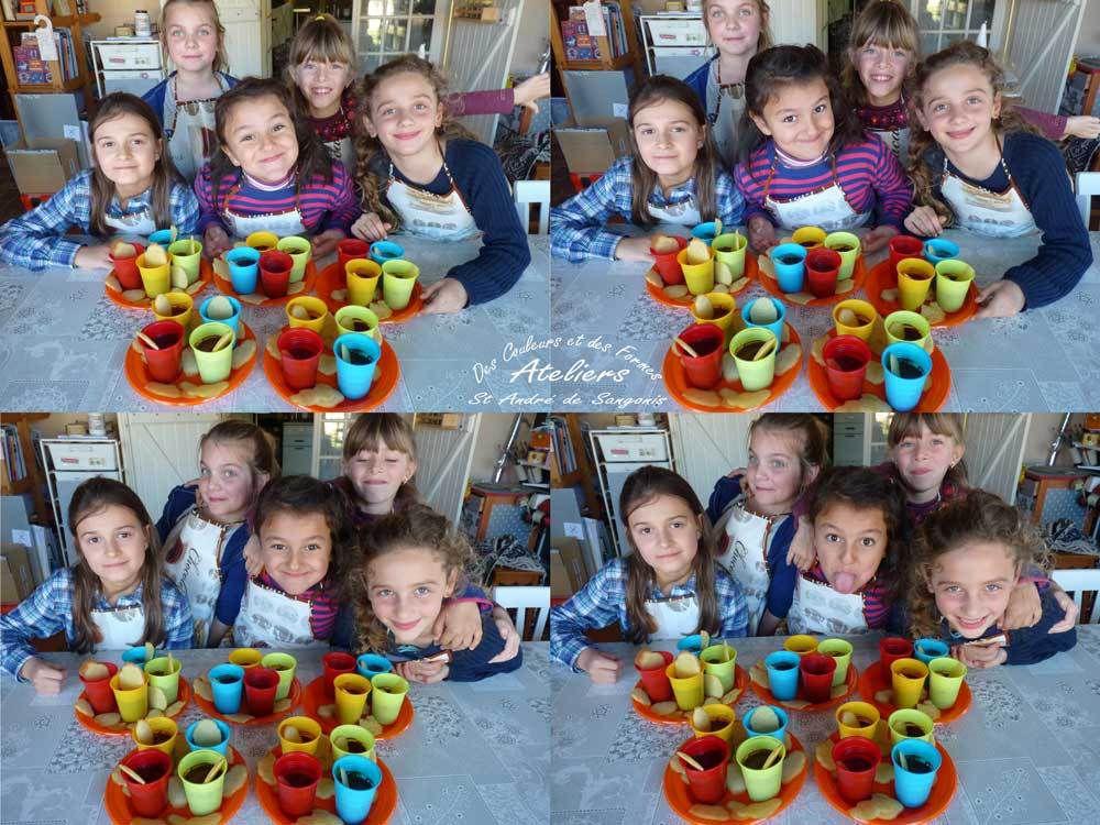 Atelier cuisine - mousse au chocolat et langues de chat