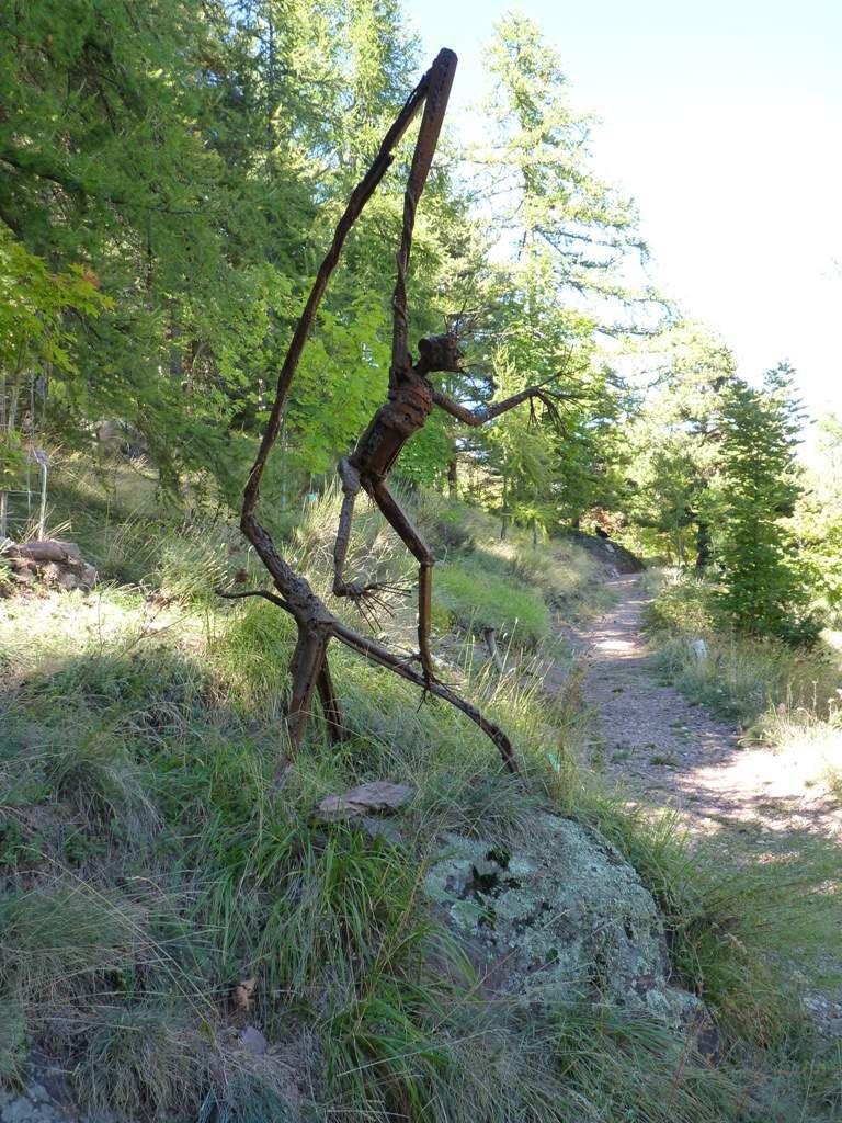 balade à l'arboretum de Roure et petit dessin