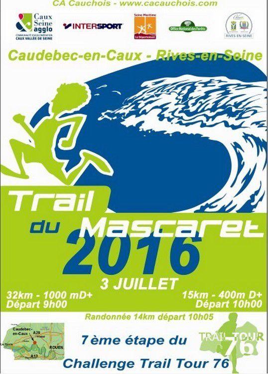 Résultat du trail du Mascaret du 03/07/16